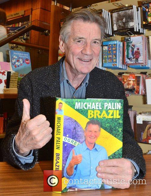 michael palin signs copies of his book 4185194