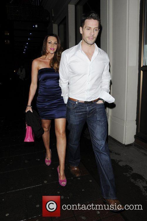 Michelle Heaton and her husband Hugh Hanley leave...