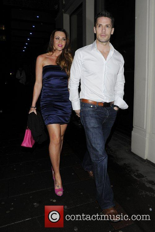 Michelle Heaton and her husband Hugh Hanley leave...