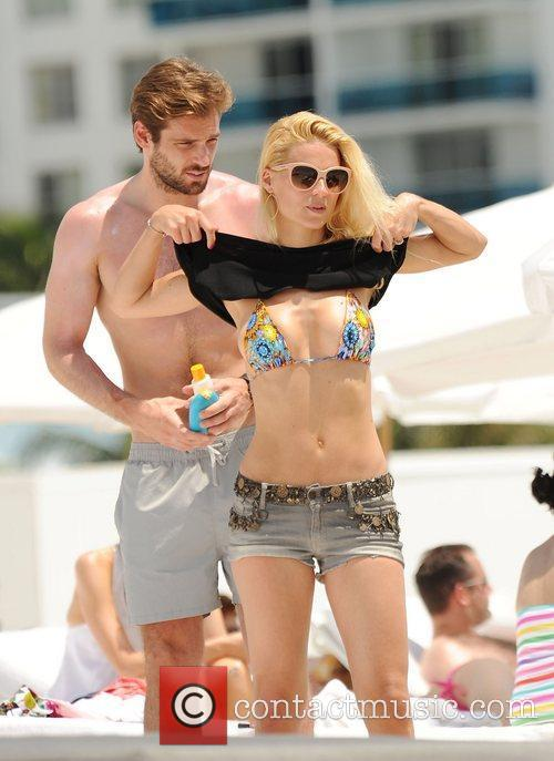 Michelle Hunziker and Tomaso Trussardi on holiday at...