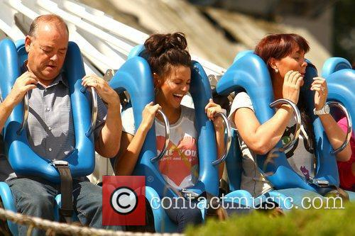Michelle Keegan and Theme Park