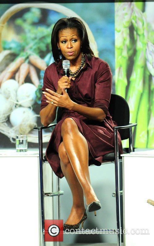 First Lady Michelle Obama attends the WebMD town...