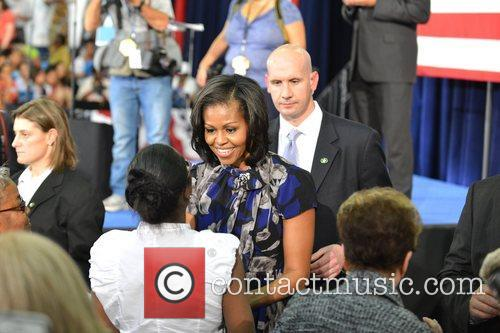 US First Lady Michelle Obama  speaks during...