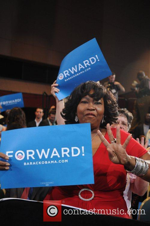 First Lady Michelle Obama hosts a campaign rally...