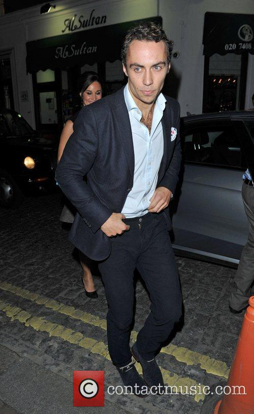 Leaving Lou lou's members club in Mayfair.