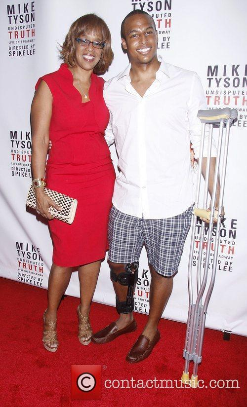 Gayle King and her son Will Bumpus Broadway...