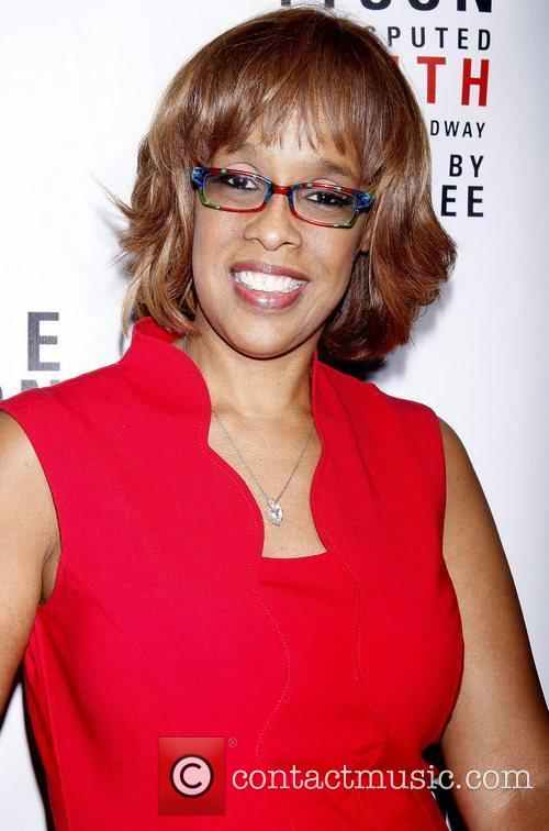 Gayle King wearing Ronit Furst hand-painted glasses Broadway...