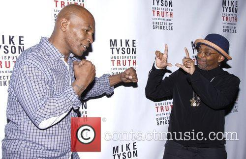 Mike Tyson and Spike Lee Broadway opening night...