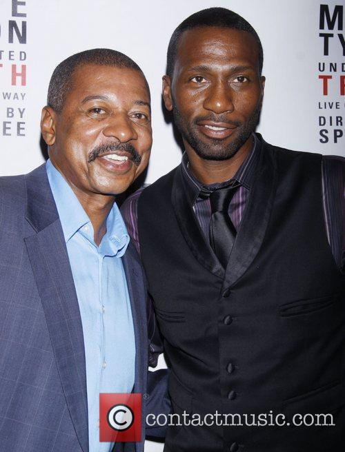 Robert Townsend and Leon Robinson Broadway opening night...