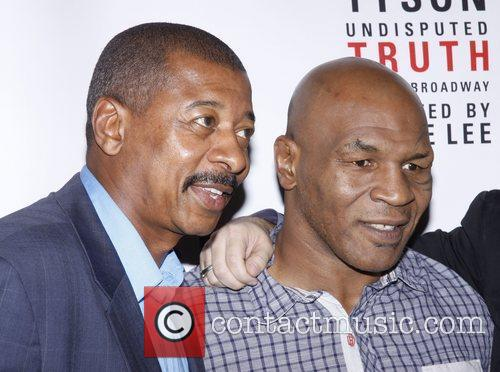 Robert Townsend and Mike Tyson Broadway opening night...