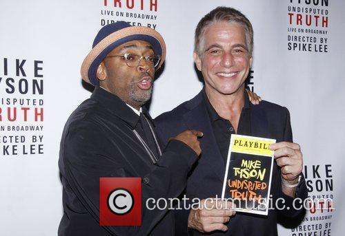 Spike Lee and Tony Danza Broadway opening night...