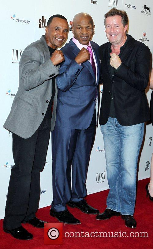Sugar Ray Leonard, Mike Tyson and Piers Morgan 2