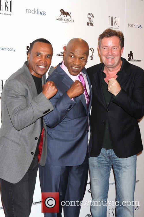 Sugar Ray Leonard, Mike Tyson and Piers Morgan 9