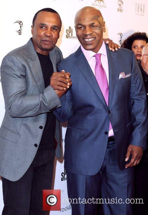 Sugar Ray Leonard and Mike Tyson 1
