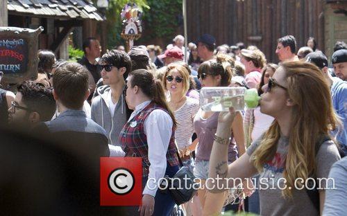 Miley Cyrus and Disneyland 2