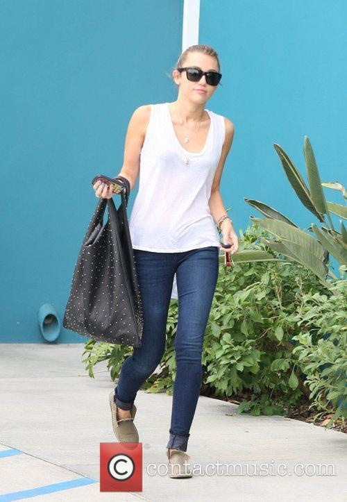 Miley Cyrus leaving Winsor Pilates on Melrose Avenue