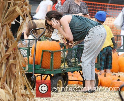 Milla Jovovich and Mr. Bones Pumpkin Patch 27