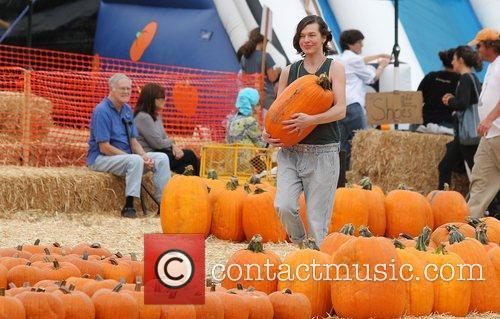 Milla Jovovich and Mr. Bones Pumpkin Patch 43