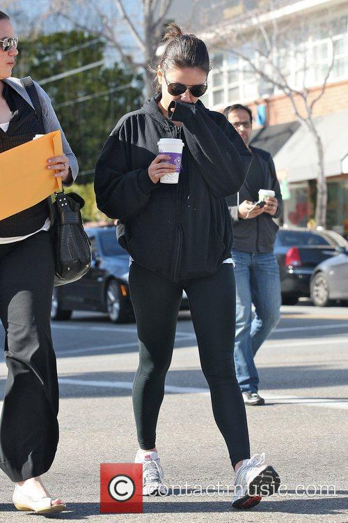 Mila Kunis out and about in Beverly Hills...
