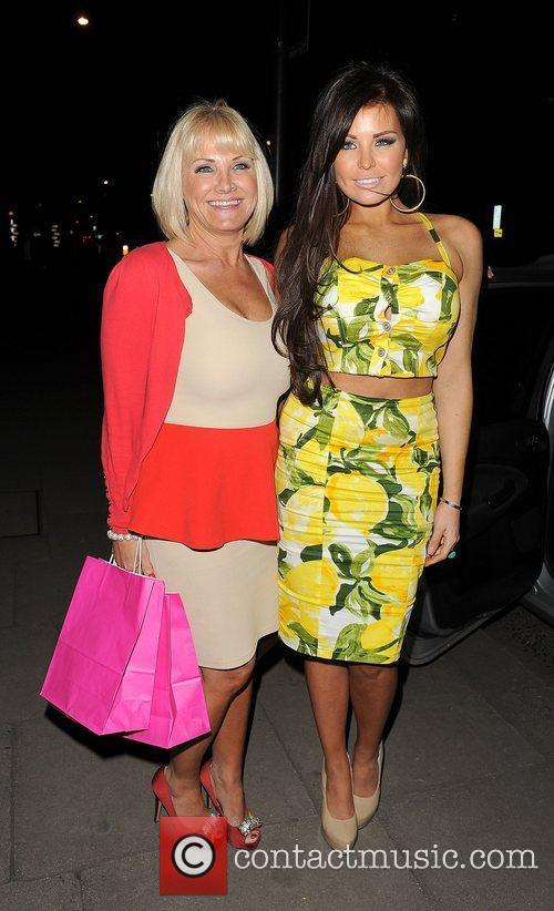 Jessica Wright and her mother Carol Wright enjoy...