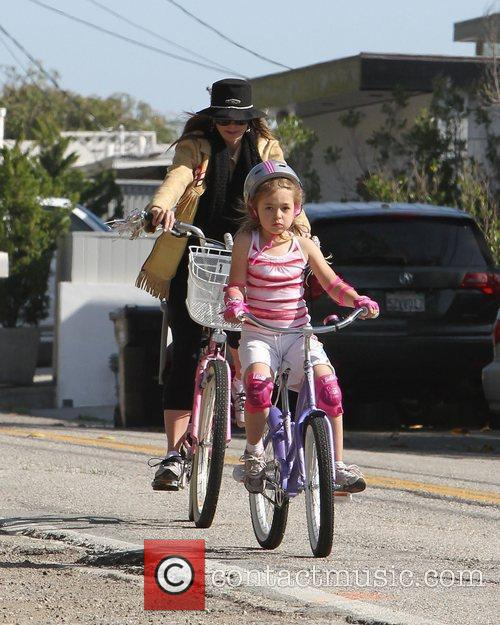 Mira Sorvino with daughter Mattea Angel on a...
