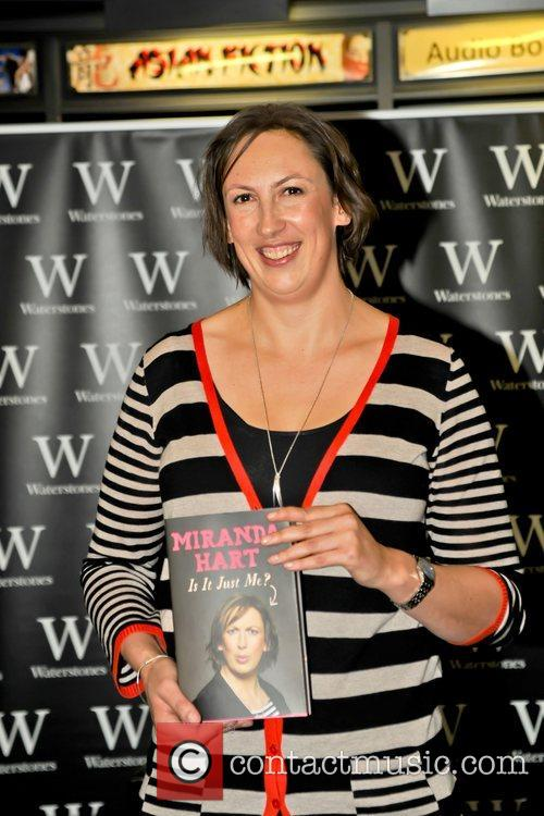 br>Miranda Hart attends the signing for her new...