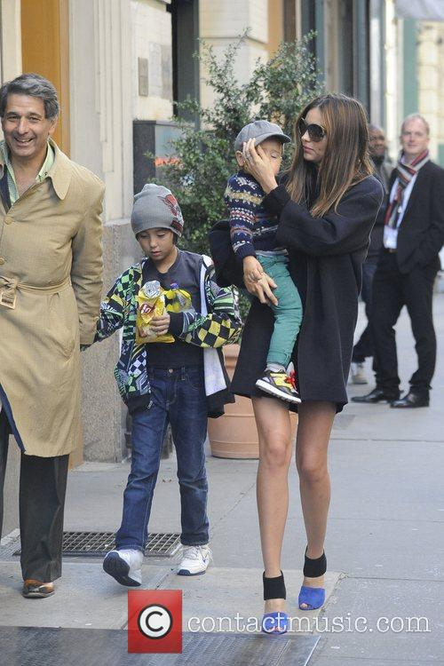 Miranda Kerr and son Flynn out and about...