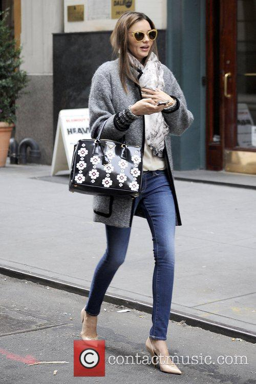 Wearing skinny jeans and high heels in Manhattan