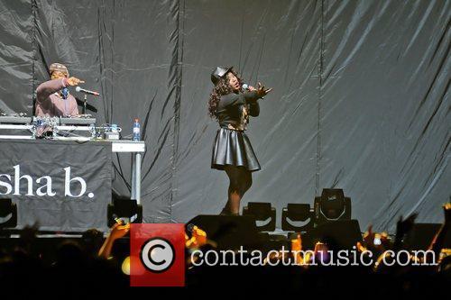 Misha B  Supporting Nicki Minaj performing on...