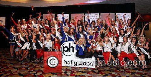 2012 Miss America Pageant Contestants Arrive at Planet...