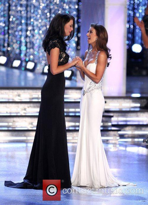 Miss Wisconsin Laura Kaeppeler and Miss Oklahoma Betty...