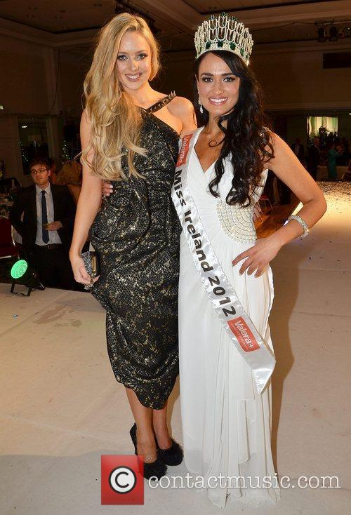 Emma Waldron and Miss Ireland 2012 Maire Hughes...