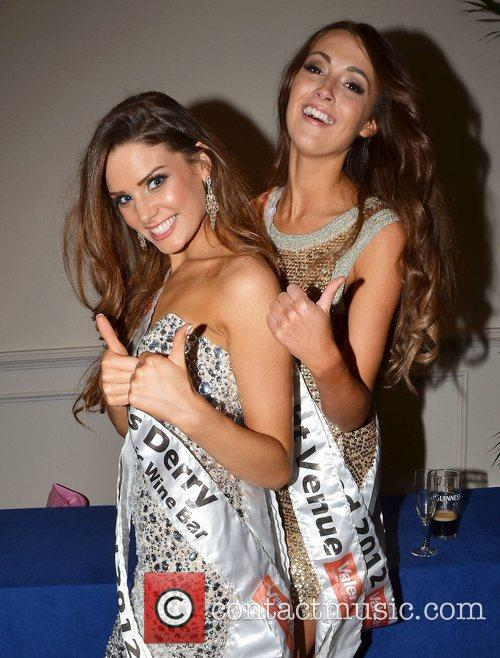 Katie McAuley, Rebecca Maguire The Miss Ireland 2012...