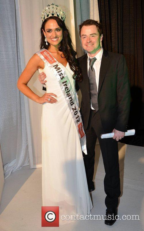Miss Ireland 2012 Maire Hughes and Sean Montague...