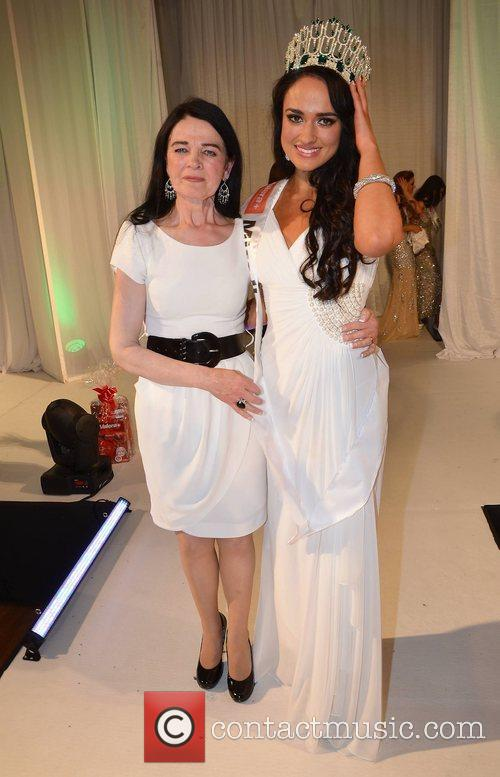 Miss Ireland 2012 Maire Hughes with her mother...