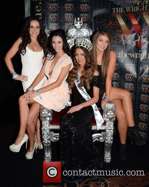 The re-crowning ceremony of Miss Ireland 2012 after...