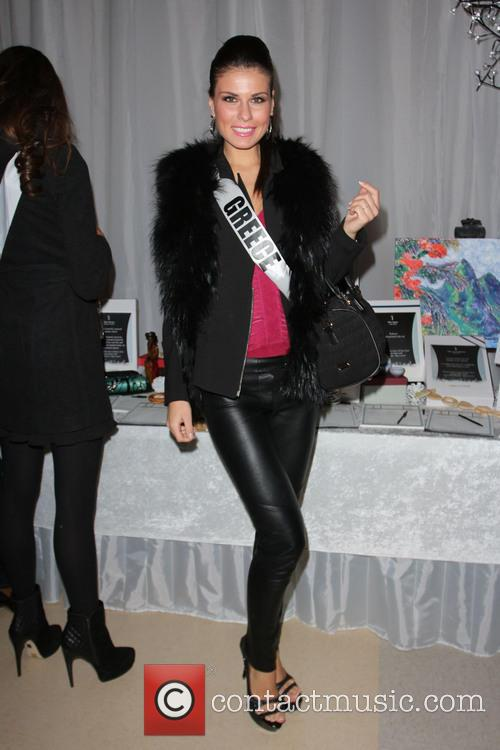 Miss Greece Vasiliki Tsirogianni Miss Universe 2012 Pageant...