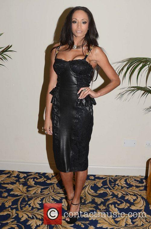 Faith Barnett attend the Miss Universe Ireland 2012...