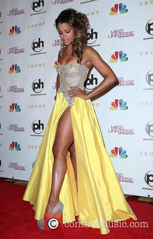 Claudia Jordan Miss Universe Las Vegas 2012 at...