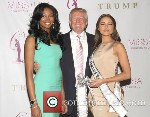 Miss USA Nana, Meriwether, Donald Trump and Miss Universe Olivia Culpo 1