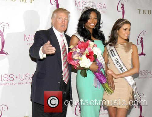 Miss USA Nana, Meriwether, Donald Trump and Miss Universe Olivia Culpo 5