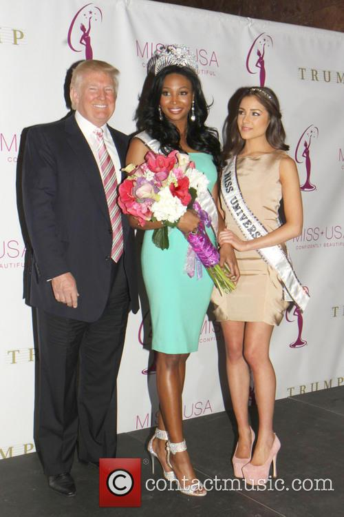 Miss USA Nana, Meriwether, Donald Trump and Miss Universe Olivia Culpo 2