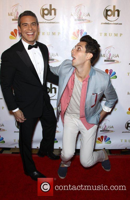Andy Cohen, Gabe Saporta 2012 Miss USA Pageant...