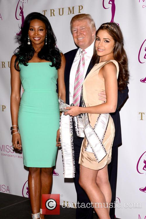 Miss Usa Nana, Meriwether, Miss Universe Olivia Culpo and Donald Trump 2