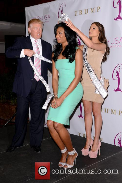 Miss USA Nana, Meriwether, Miss Universe Olivia Culpo, Donald Trump