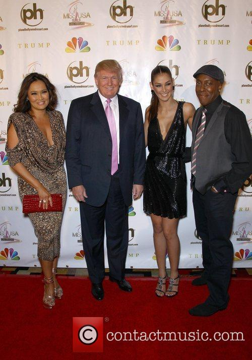 Donald Trump, Arsenio Hall, Dayana Mendoza and Planet Hollywood 4