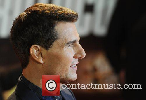 Tom Cruise at the premiere of Mission: Impossible...