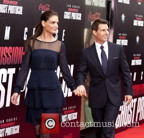 Katie Holmes, Tom Cruise and Ziegfeld Theatre 3