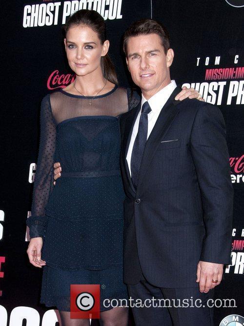 Katie Holmes, Tom Cruise and Ziegfeld Theatre 4