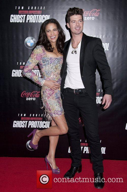 Paula Patton, Robin Thicke and Ziegfeld Theatre 1